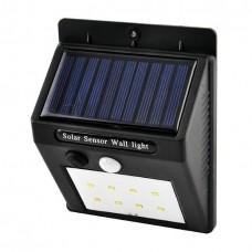 Настінний вуличний світильник XF-6008-8SMD, 1x18650, PIR (датчик руху), CDS (датчик світла), сонячна батарея