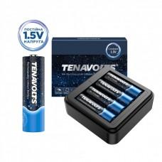 Акумулятор Tenavolts Lithium AA 1.5В 1850 мА·год 4 шт. із зарядним пристроєм