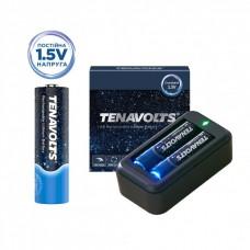 Акумулятор Tenavolts Lithium AA 1.5В 1850 мА·год 2 шт. із зарядним пристроєм