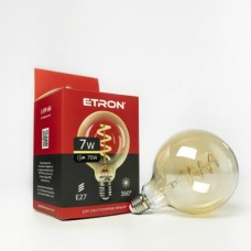 LED лампа ETRON Filament 1-EFP-166 G125 Vintage E27 7W 2700K золото
