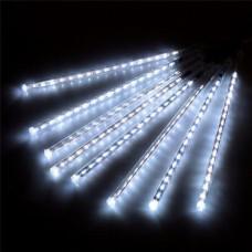 Гірлянда бурульки прозорий шнур 8 шт, 50 см, білі