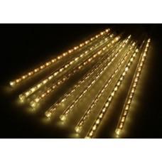 Гірлянда бурульки прозорий шнур 8 шт, 50 см, тепло-біла