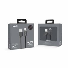 """Кабель HAVIT HV-H637 USB Type-C """"магнітний"""" 1м"""